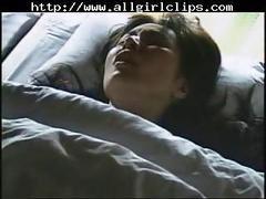 Jap lesbian girls on bed