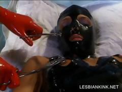 BDSM chapter with lesbo getting fabrication toyed