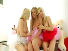 Three incredible blonds attrition prolapse