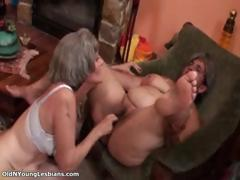 Venerable and young lesbians go crazy sucking part5