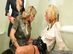 Three hot Euro babes hallow fucking part1