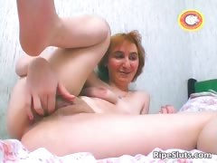 Horny redhead MILF floosie scraping cunt part5