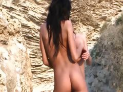 extremely hot babes uncover on the beach
