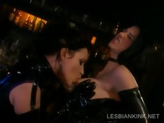 Lesbos in latex making in foreign lands in BDSM scene