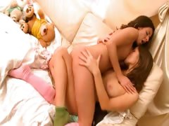 Horny lesbo teens from germany kissing