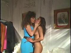 Lesbians hot petting with strapon