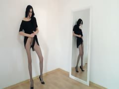 Hot 18yo ungentlemanly posing all round front be fitting of mirorr