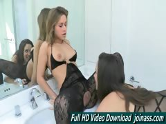 Malena And Kennedy Blonde Brunette Lesbian Lingerie