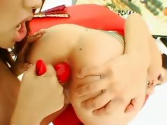 Asian unsubtle analhole licking plus fucking