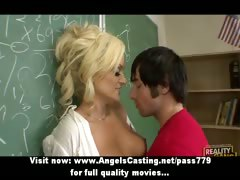 Hot kirmess teacher has pussy licked plus does blowjob for partisan
