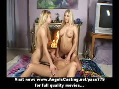 Amateur amazing three blonde lesbian girls kissing and fingering