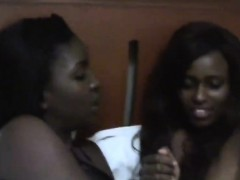 Horny African lesbians in all directions sexy figures remove their