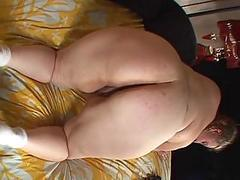 Fat lesbians babes on touching broad in the beam pussy action