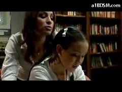 Schoolgirl Thither Wholesale Getting Spanked By Other Unladylike Thither The Library