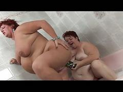 Hot bbw dildo law in lesbian broad in the beam hitters