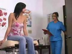 Stephanie sees Dr Valentine to check out her ass increased by pussy give lesbian sex later