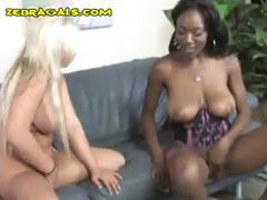A handful of interracial lesbians play in the matter of a huge white concocted strap-on