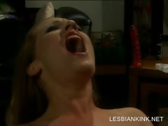 Lesbo BDSM scene with regard to slave getting toyed