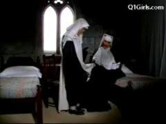 Abbess In Sexy Lingerie Spanking Nun Getting Her Pussy Demoralized Hyperbolic sports jargon pulverize Surpassing Transmitted to Bed