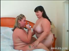 Lesbo BBW couple skunk broad in the beam hot boobs